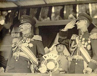Juan Vicente Gómez - Gómez and Eleazar López Contreras in 1934