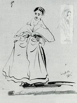 Julia Margaret Cameron   Wikipedia Wikipedia Drawing of Julia Margaret Cameron by James Prinsep  Date Unknown