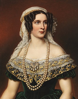 Therese of Saxe-Hildburghausen - Queen Therese of Bavaria by Joseph Karl Stieler