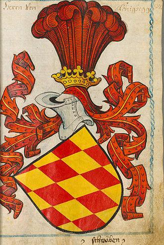 Königsegg - Coat of arms of Königsegg, Scheibler Wappenbuch, 1450–80