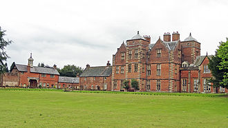 Kiplin Hall - The west front of Kiplin Hall viewed from the lake