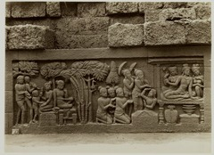 KITLV 28015 - Kassian Céphas - Relief of the hidden base of Borobudur - 1890-1891.tif
