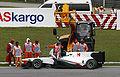 Kamui Kobayashi 2010 Malaysia engine failure.jpg