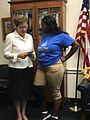 Kaptur visits with student Yahdiyel Mccadney in her Washington office (35213885161).jpg