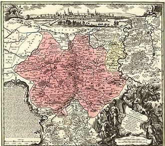 Prince-Bishopric of Paderborn - Matthäus Seutter: Map of the Bishopric, 1750