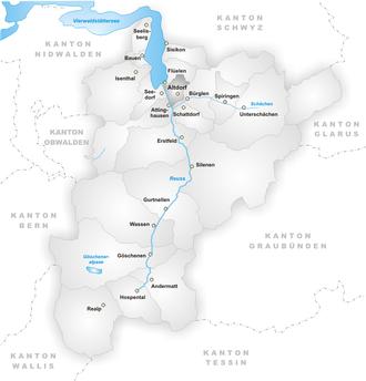 Altdorf, Uri - Image: Karte Gemeinde Altdorf