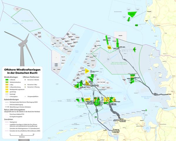 deutsche bucht karte File:Karte Offshore Windkraftanlagen in der Deutschen Bucht.png