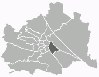 Landstraße - Image: Kartewien 3
