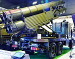 Kasirga rocket system from Roketsan at IDEF2015 (cropped).JPG