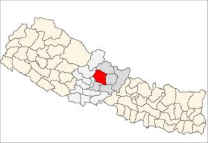 Kaski District - Location of Kaski