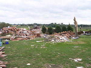 Kasota, Minnesota - Damage from the 2006 Dakota–Minnesota tornado outbreak in Kasota