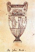 Vase de Sosibios, décalque par John Keats, emprunté au recueil Les Monuments antiques du musée Napoléon.
