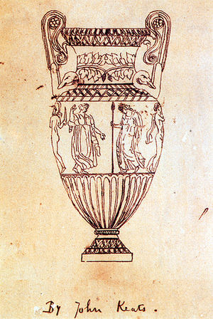 Ode on a Grecian Urn - Tracing of an engraving of the Sosibios vase by Keats