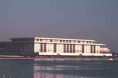 The Kennedy Center, Washington, D.C., as seen from the Potomac River
