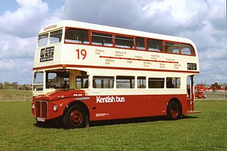 London Buses route 19 - Kentish Bus AEC Routemaster in July 1993