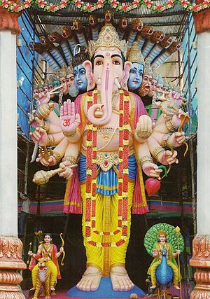 English: Statue of Ganesha, put in Khairatabad...