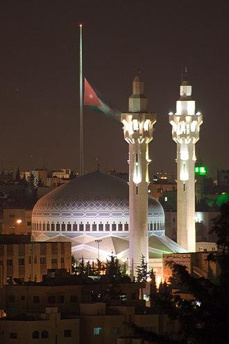 King Abdullah I Mosque - King Abdullah I Mosque at night.