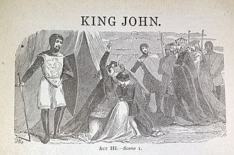 King John (play) - A Lithograph depicting Act III Scene I