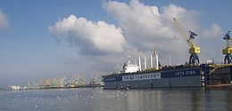 Klaipėda port is the only port in Lithuania and is vital to its economy.