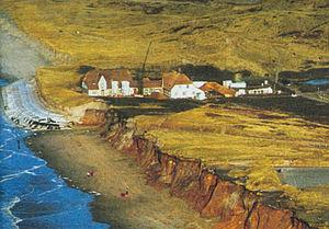 Geotextile - Image: Kliffende, Island Sylt, 1999