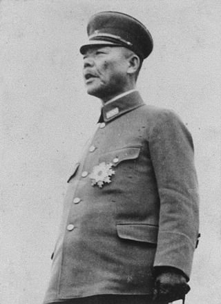 Kuniaki Koiso, Japanese Governor-General of Korea, implemented a draft of Koreans for wartime labor. Koiso2.jpg
