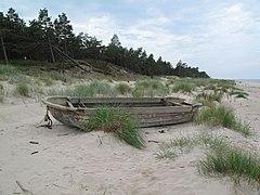 Kolka, pláž