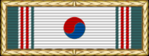 James Van Fleet - Image: Korean Presidential Unit Citation
