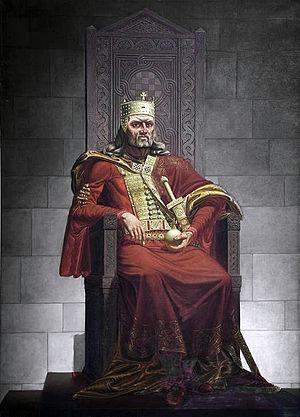 Tomislav of Croatia - Image: Kralj Tomislav na prijestolju