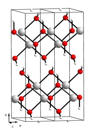 Copper(II) hydroxide - Image: Kristallstruktur Kupfer(II) hydroxid