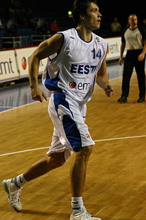 Estonian professional basketball player