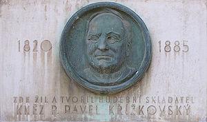 Pavel Křížkovský - Memorial plaque of Pavel Křížkovský