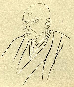Takizawa Bakin - Bakin's portrait by Kunisada (国貞)
