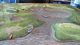 L'Anse aux Meadows - Model of the settlement in the museum at the excavation site of L'Anse aux Meadows