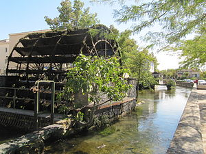 L'Isle-sur-la-Sorgue - One of the several water wheels in the town