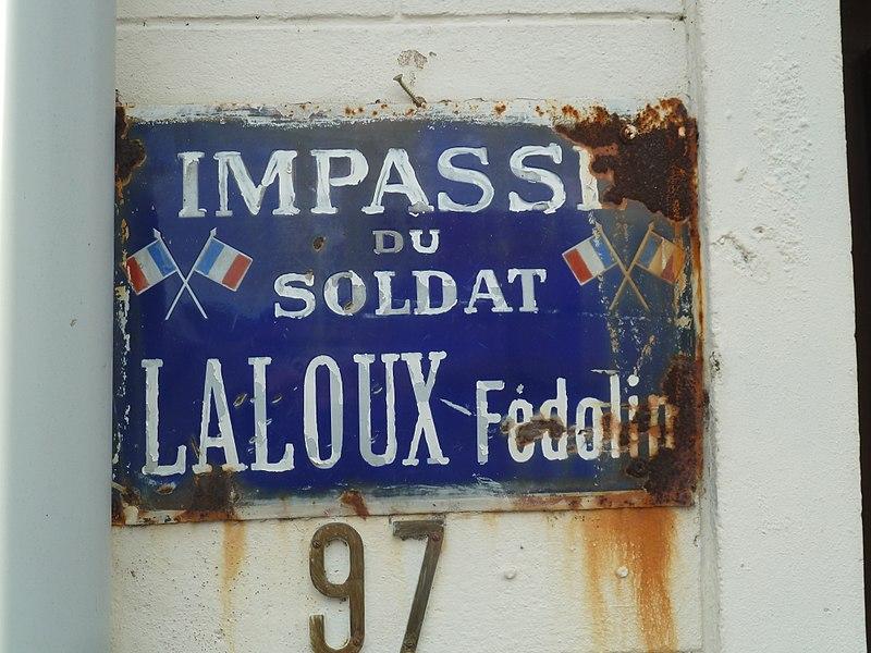 Impasse du Sdt Laloux   Lécluse,  Nord.- (Nord-Pas-de-Calais).-  France