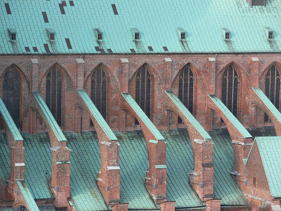 Lübeck Marienkirche Strebebögen