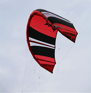 Leading edge inflatable kite Single skin kite with inflatable bladders providing structure