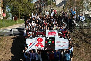 English: LSUAIDSWalk Quilt
