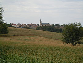 A general view of the village of La Bâtie-Divisin