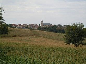 Les Abrets-en-Dauphiné - A general view of the village of La Bâtie-Divisin