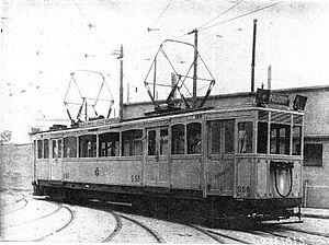 La Brugeoise cars (Buenos Aires Underground) - Second series car at the Polvorín workshop, 1915.