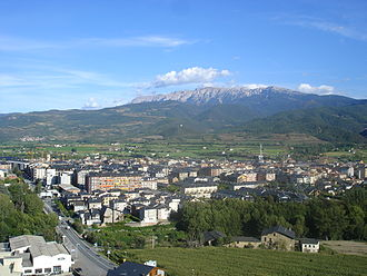 La Seu d'Urgell - View of La Seu d'Urgell from the Tower of Solsona.