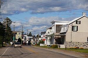 Lac-aux-Sables, Quebec - Main street of Lac-aux-Sables village