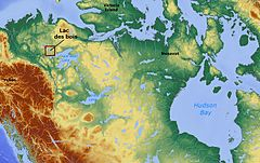 Lac des bois (Northwest Territories) Canada locator 01.jpg