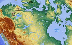 Lac des Bois (Northwest Territories) - Image: Lac des bois (Northwest Territories) Canada locator 01