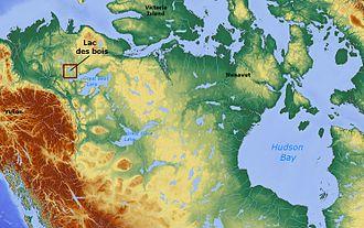 Lac des Bois (Northwest Territories) - Image: Lac des bois (Northwest Territories) Canada locator 01