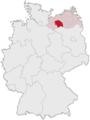 Lage des Landkreises Parchim in Deutschland.png