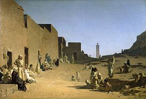 1879 in art - Image: Laghouat in the Algerian Sahara (1879)