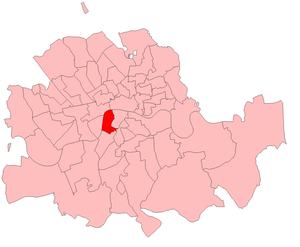 Frank Briant - Lambeth North in London County, showing boundaries used 1885–1918