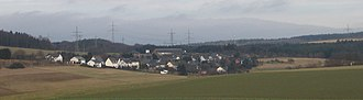 Leiningen, Germany - View of Lamscheid from the west